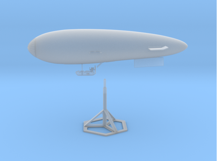S.S. Zero 1/350 Scale with Display Stand 3d printed The assembled model (does NOT include decals)