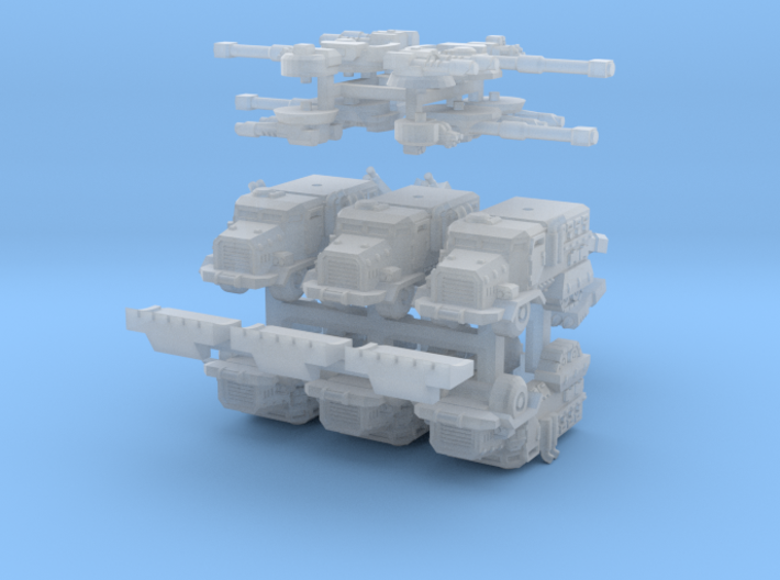 6mm Muskox MRAP APCs (Half-Tracked) (6pcs) 3d printed