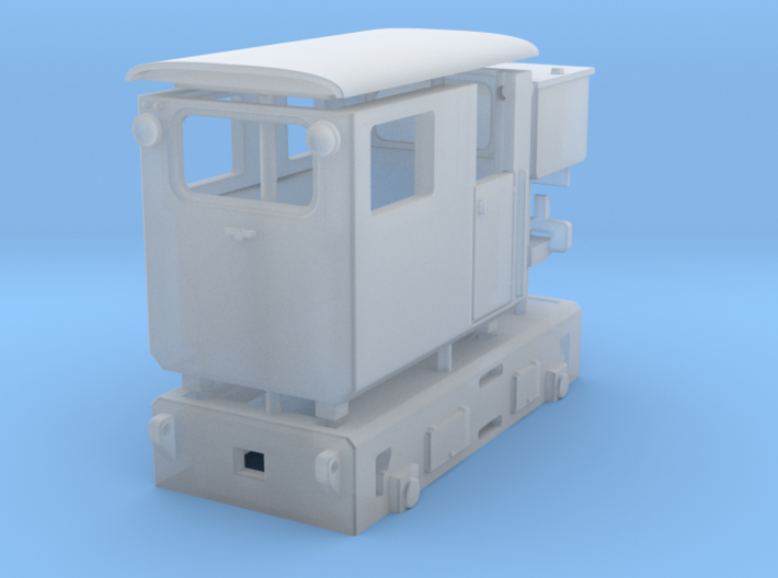 Tunneling battery locomotive H0e 3d printed