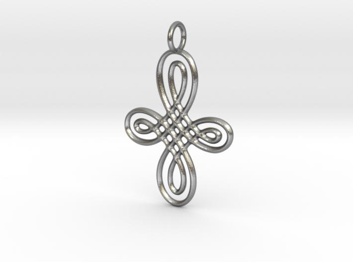 Celtic Round Cross Pendant 3d printed