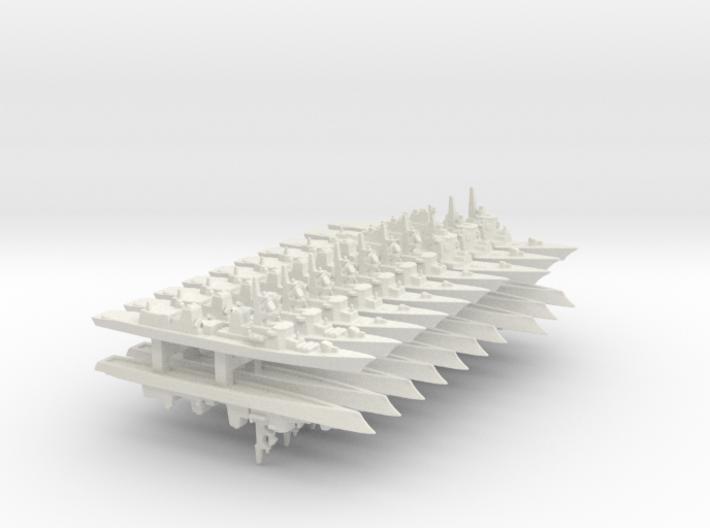 JMSDF Destroyer Pack 1 (WSF), 1/3000 3d printed
