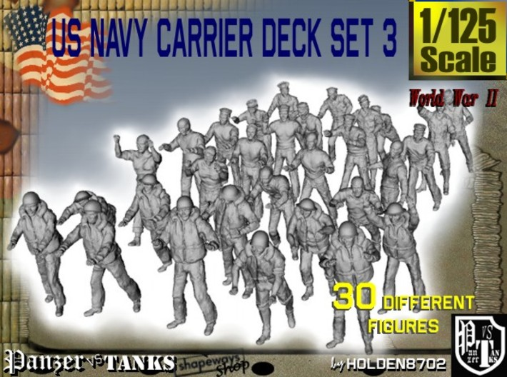 1/125 US Navy Carrier Deck Set 3 3d printed