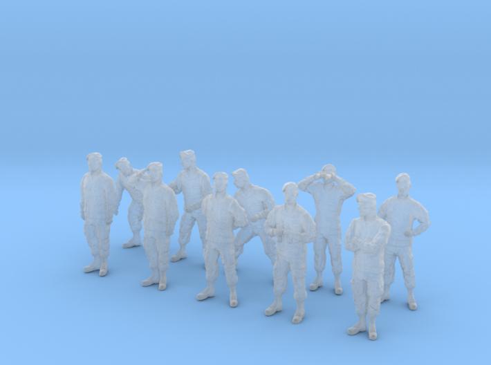 1-56 Army Modern Uniforms BERETS Set 4-1 3d printed