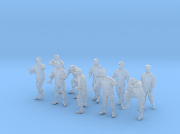 1-48 Army Modern Uniforms BERETS Set 4-2 3d printed