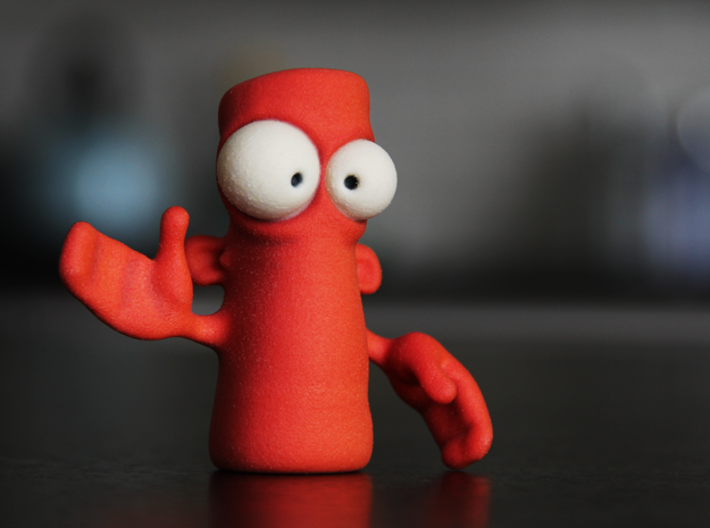 DO NOT Push The Red Button! 3d printed He's ready for chaos.