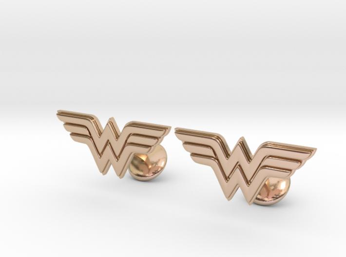 Wonder Woman Cufflinks 3d printed