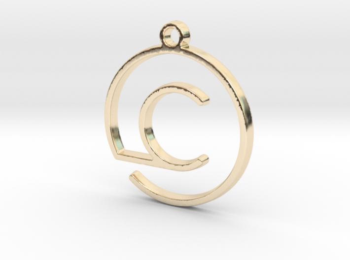 C Monogram Pendant 3d printed