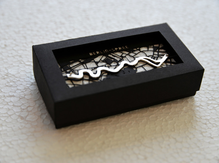 River Pendant Berlin 3d printed UrbanFabric Berlin pendant in box
