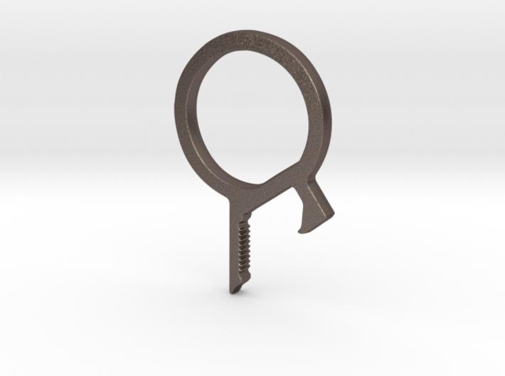 Multipurpose Bottle Opener Keychain 3d printed