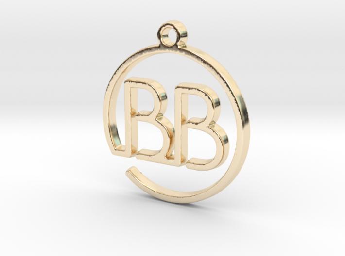 B & B Monogram Pendant 3d printed