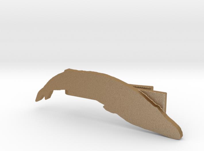 Blue Whale Tie Clip 3d printed