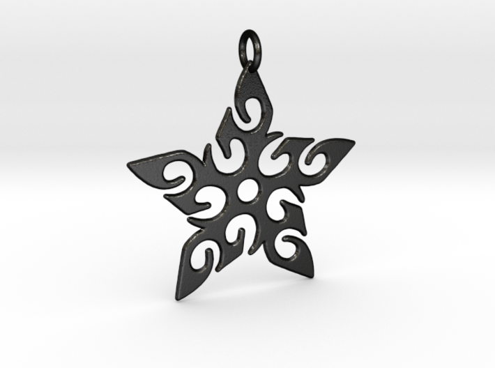 Tribal Star Pendant 3d printed