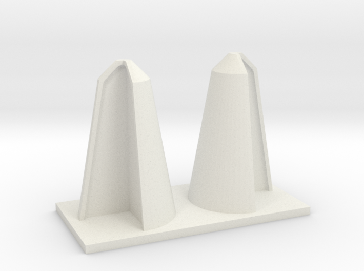 SHORT CORNER BOLLARDS 3d printed