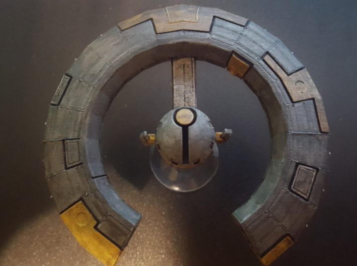 Space Station Omni 3d printed overhead view