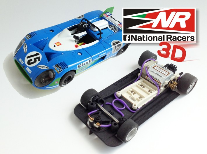 3D chassis for SRC Matra 670 (SW) 3d printed Chassis compatible with SRC model (slot car and other parts not included)