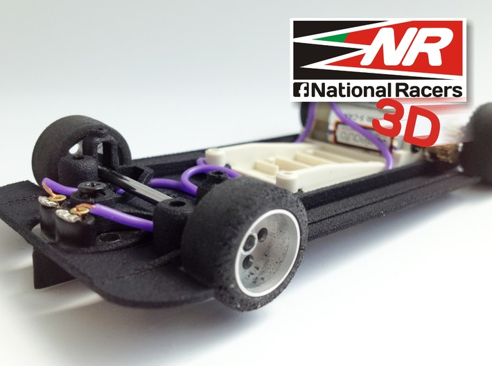 3D chassis for SRC Matra 670 (SW) 3d printed Guide support and front axel