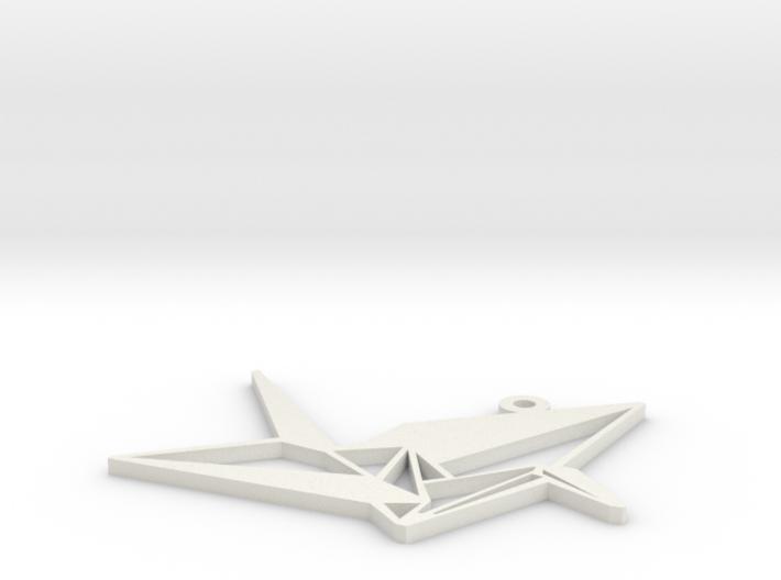 Crane Necklace Ornament 3d printed