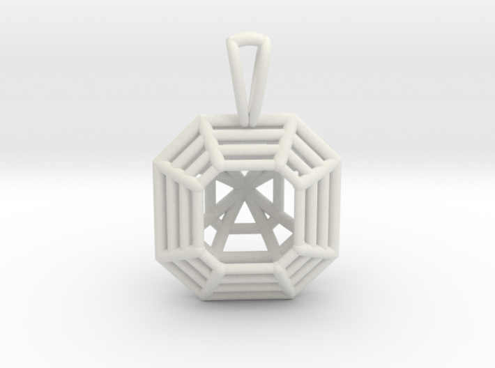 3D Printed Diamond Asscher Cut Pendant 3d printed