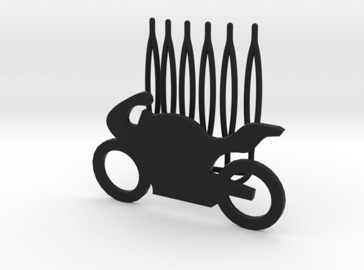 Motorbike decorative hair comb - big size 3d printed