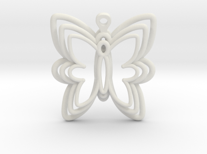 3D Printed Wired Butterfly Earrings 3d printed