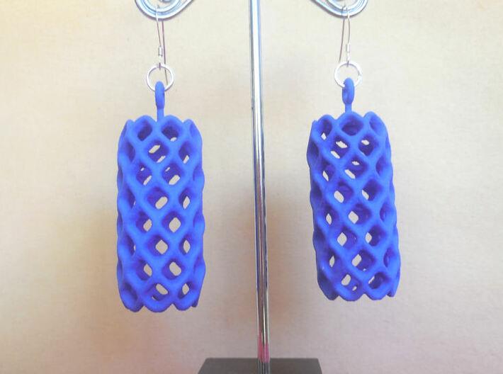 Pineapple - A pair of earrings 3d printed