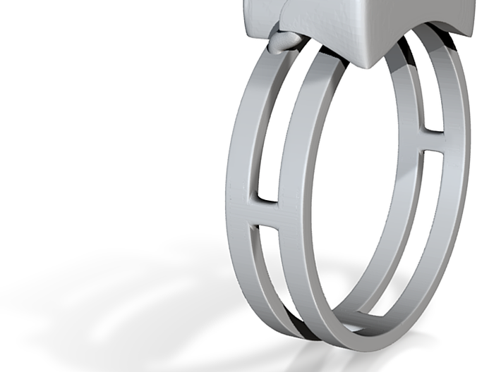 Geometric Yenny Ring Size10 19.76mm 3d printed