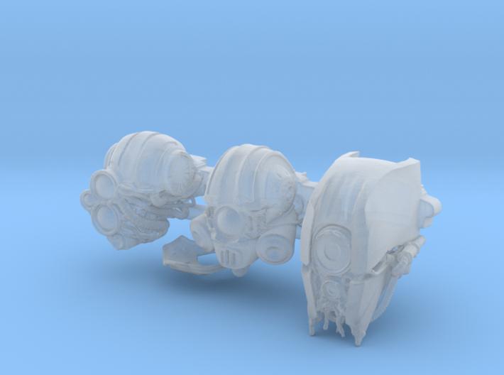 Blacklance Knight Head Bundle 3d printed