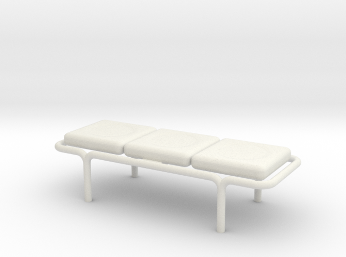 MOF Bench - 3 Cushion - 72:1 Scale 3d printed