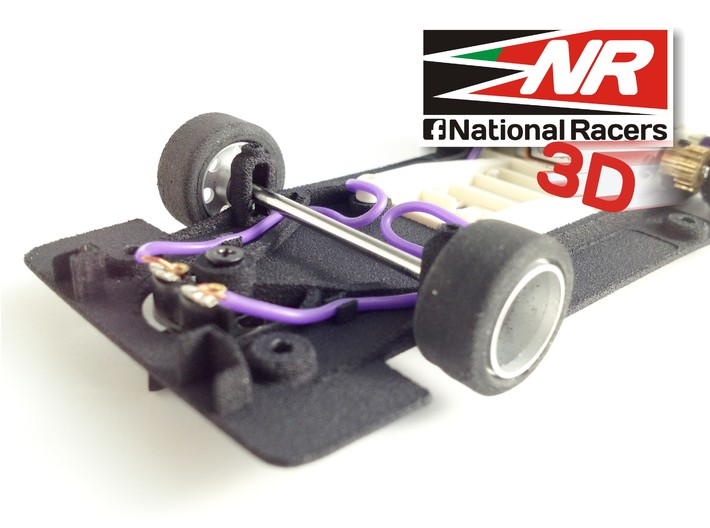 3D chassis - Fly Porsche 917 K / 917 LH - (SW) - 1 3d printed Front axel view