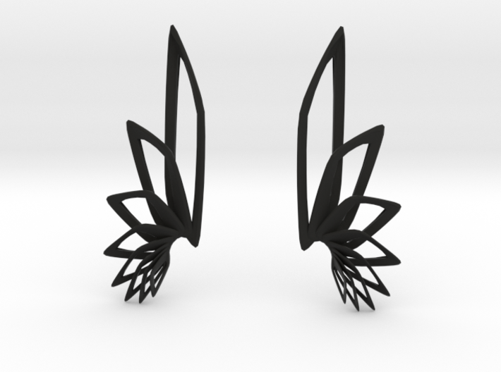 Flyaway Earrings 3d printed