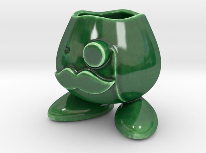 Monocle Planter Guy 3d printed