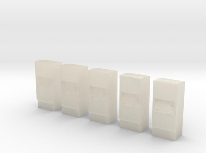 5 Ticket machines (1:160) 3d printed