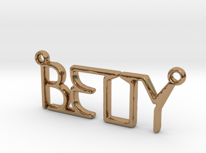 BETTY First Name Pendant 3d printed