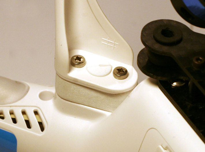DJI Phantom 1 2 Vision+ 10mm Taller Landing Gear 3d printed No need to add unsightly wide legs or foam padding.