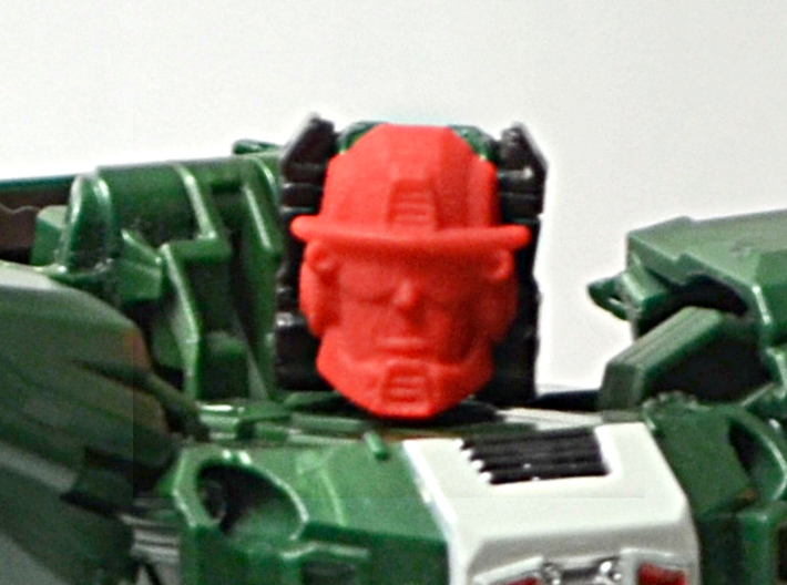 Graduate Heatwave Faceplate (Titans Return) 3d printed Print in a red, strong and flexible plastic on Skullsmasher body/Titan Master.