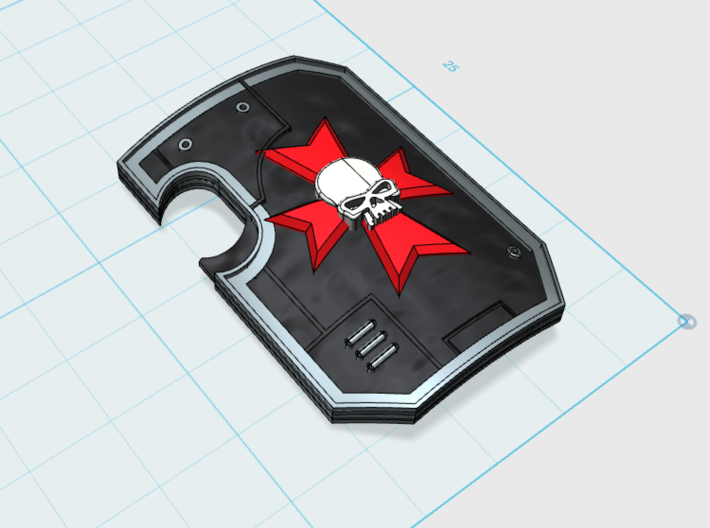 10x Maltese Cross 2- Marine Boarding Shields w/Han 3d printed