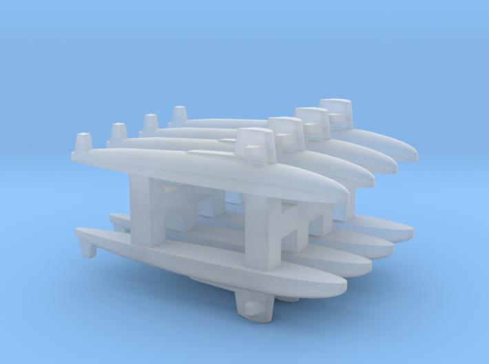 Skipjack class SSN x 8, 1/6000 3d printed
