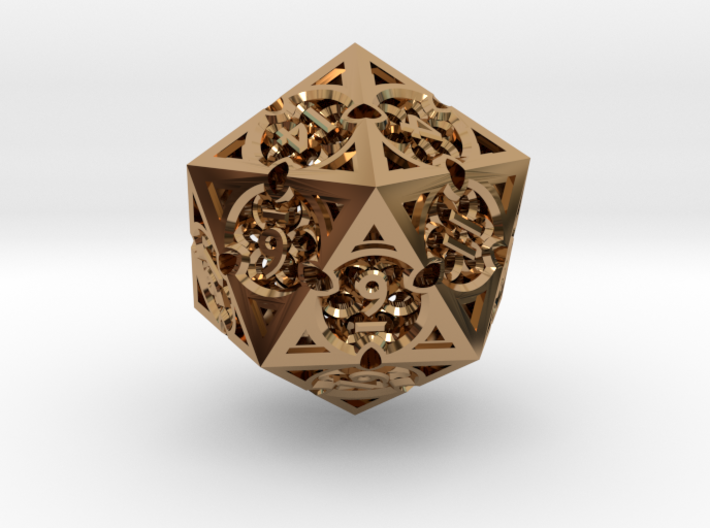 Gothic Rosette d20 3d printed