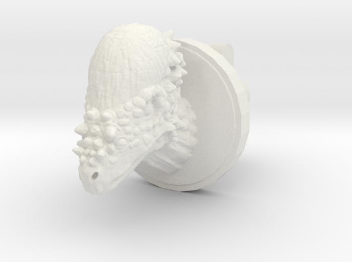 Pachycephalosaurus Head Cufflink 3d printed