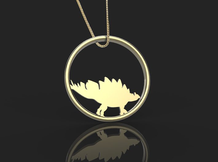 Stegosaurus necklace Pendant 3d printed