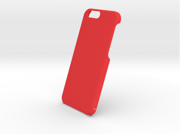 Cover for iPhone 6 (embossed logo and text) 3d printed