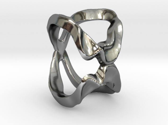 Mind generated ring - my idea of love 3d printed