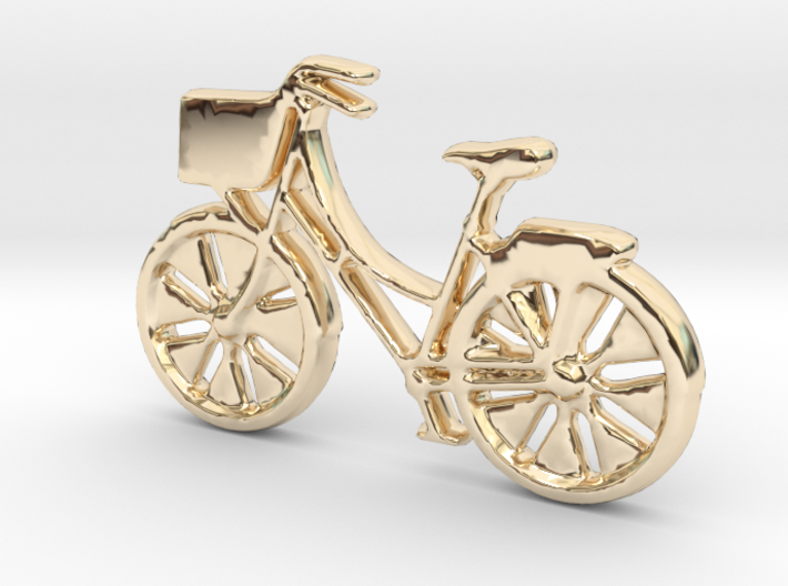 Bicycle No.1 Pendant and Keychain 3d printed