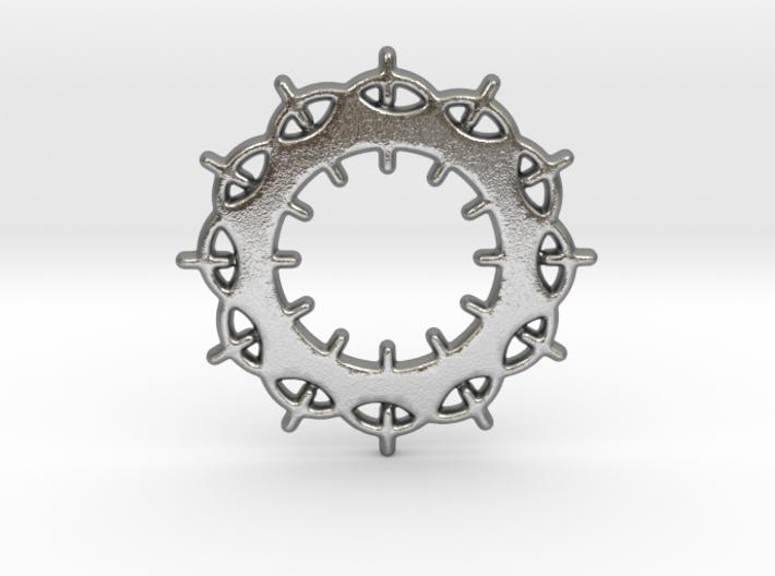 Circles No.2 Pendant 3d printed