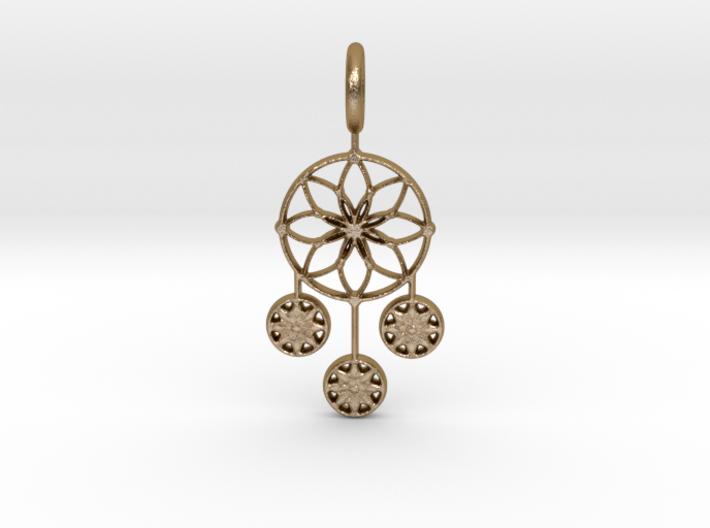 Circle Alpha Pendant 3d printed