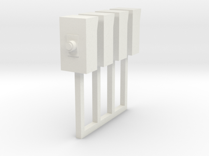 Small Electrical Cabinet On Post 1-87 HO Scale 3d printed