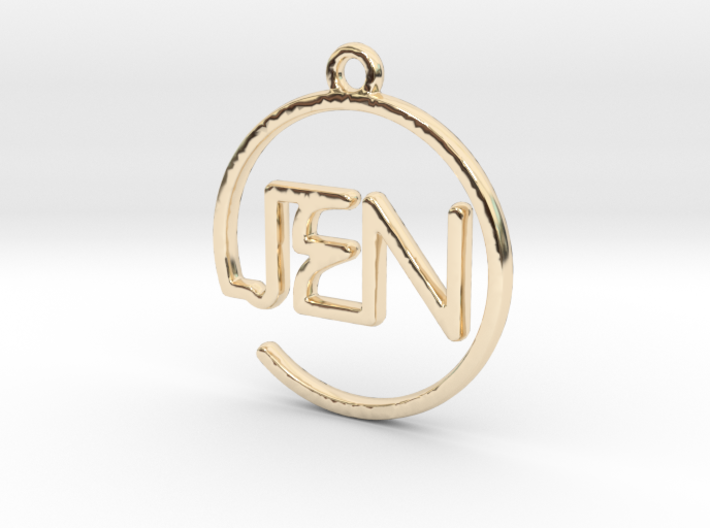JEN First Name Pendant 3d printed