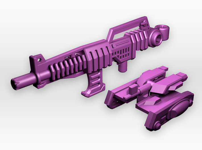 Rifle And Tank Adaptor for CW 'Overlord' 3d printed