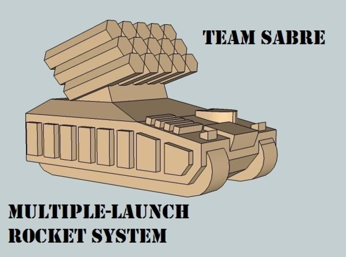 """""""Team Sabre"""" 3mm Tracked Fire Support (12pcs) 3d printed"""