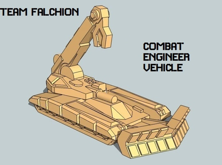 """""""Team Falchion"""" 3mm Tracked Task Force (56pcs) 3d printed"""